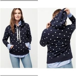 J. Crew Polka Dot Hooded Sweatshirt Size XS